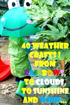 40 Weather Crafts from Rainbows, to clouds, to sunshine and wind. Once you have talked with your students about different weather patterns you can let them be crafty and create what they have just learned about to take home to their parents or to display in the classroom.