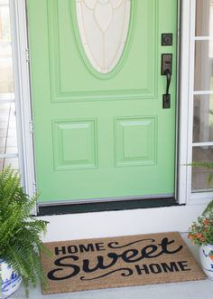 When you're SO over your boring front door, this might be the most inexpensive way to dramatically transform it!