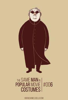 The Same Man in Popular Movie Costumes by Daniel Cuello http://www.danielcuello.com/?p=4475