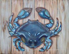 Jamie Howell Art@Etsy, Original Art, Coastal Decor, Nautical Wall Art Crab Painting, Original Paintings, Original Art, Nautical Wall Art, Coastal Art, Beach Art, Clip Art, Crabs, The Originals