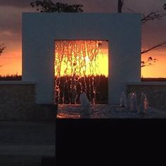 This stunning sunset shot was taken in the lobby at Secrets Playa Mujeres! ~ Unlimited Vacation Club