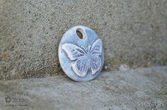 Blue Sky Butterfly by CherryhillStudioClay on Etsy  UK  Handmade £5.50