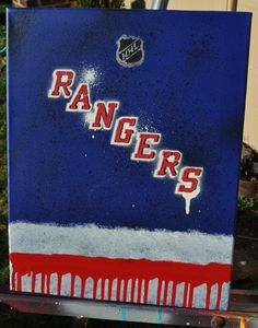 Vintage New York Rangers poster from 1973. Not a reprint, but the ...