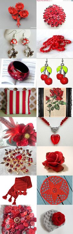 Hot Red Collection - A Potti Team Treasury by Ksenya on Etsy--Pinned with TreasuryPin.com