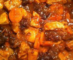 Pork tagine with prunes and honey – Meat Foods Tajin Recipes, Pork Recipes, Healthy Recipes, Sherbet Recipes, Risotto, Pork Stew, Diner Recipes, Budget Recipes, Cooking Chef