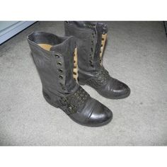 Bcbg Distressed Combat Boots