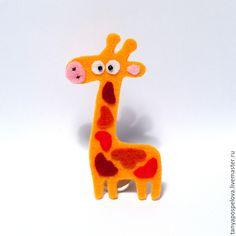Жирафы_Броши - Фетровые глазастики - Ярмарка Мастеров http://www.livemaster.ru/item/8916839-ukrasheniya-zhirafy-broshi