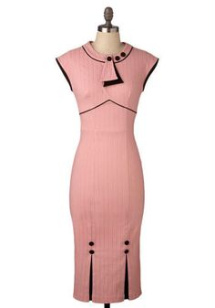 Gentlemen Prefer Pink Dress. It doesnt matter if youre a Monroe blonde or a Russel brunette, youll be the picture of perfection in this pretty pink dress. #gold #prom #modcloth