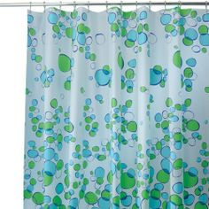 InterDesign Bubblz Shower Curtain - Blue/Green another option for the guest bathroom