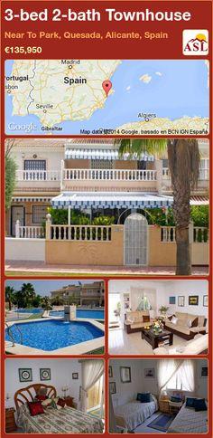 3-bed 2-bath Townhouse in Near To Park, Quesada, Alicante, Spain ►€135,950 #PropertyForSaleInSpain