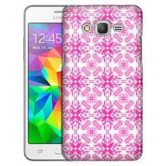 Samsung Grand Prime Victorian Astonishing Pink on White Slim Case