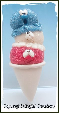 Becky's Polymer Clay  Patriotic Sno Cone от clayfulcreations