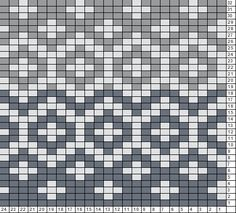 Tricksy Knitter Charts: Gray hat chart -3 colors