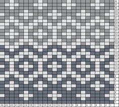Tricksy Knitter Charts: Gray hat chart (71293)