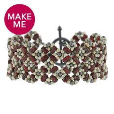 Cherry Blossom Lattice #Bracelet #FusionBeads #MakeMe