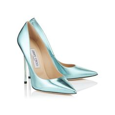 Cool Mint Etched Mirror Leather Pointy Toe Pumps ANOUK (15 125 UAH) ❤ liked on Polyvore featuring shoes, pumps, heels, mint green shoes, pointy toe shoes, mint pumps, jimmy choo shoes and leather shoes