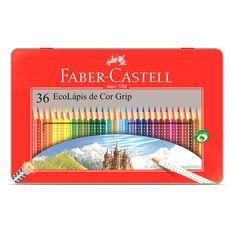Lápis de Cor Faber-Castell Ecolápis Grip Lata 36 cores | Staples® - Staples