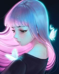 アーティスト〜Asia Ladowska〜Telimena Ladowska - Everything About Anime Manga Kawaii, Kawaii Anime Girl, Anime Art Girl, Manga Girl, Anime Girls, Pretty Art, Cute Art, Art Anime Fille, Art Mignon