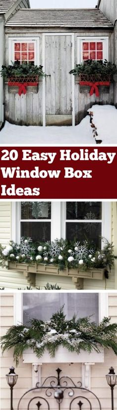 Holiday Window Boxes, Window Box Ideas, Window Box Inspiration, Holiday Window Decor, Popular Pin, Christmas Decor Ideas, Christmas Decor, Outdoor Holiday Decor, Easy Outdoor Decor Ideas