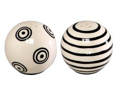 Bagwell Collection, our hand painted, glazed ceramic Whimsical Salt and Pepper shakers are the perfect finishing touch to our M. Bagwell Dinner and Serveware collections. Salt And Pepper Grinders, Salt And Pepper Set, Salt Pepper Shakers, Kitchen Tools And Gadgets, Glazed Ceramic, White Patterns, All Modern, Modern Furniture, Ceramics