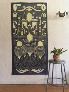 Image of The 'Granite Blossoms' Oversized Textile Print Print by Strange Dirt, $200
