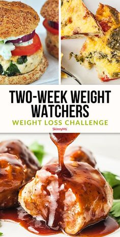 Two Week Weight Watchers Weight Loss Challenge : Each of these recipes is easy to make and won't require a ton of prep or cook time. Furthermore, these meals can be made in advance in order to fit into your busy lifestyle. Two Week Weight Watchers Plats Weight Watchers, Weight Watchers Diet, Ww Recipes, Healthy Recipes, Dessert Recipes, Recipies, Clean Eating, Healthy Eating, Healthy Food