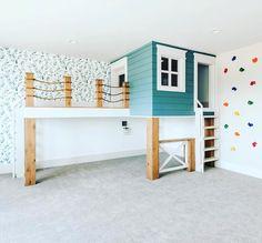 Indoor Playroom, Kids Indoor Playhouse, Studio Mcgee, Clouds Photography, Playroom Design, Playroom Storage, Playroom Ideas, Benjamin Moore, Home Daycare