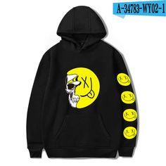 WY02 Bobby Mares, Smile Logo, Hoodies, Sweatshirts, Harajuku, Fall Winter, Graphic Sweatshirt, Pullover, Countries