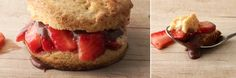 """Strawberry Shortcake with Chocolate """"Gravy"""" Recipe--Can't wait to try this out with some homemade vanilla whipped cream on the side"""