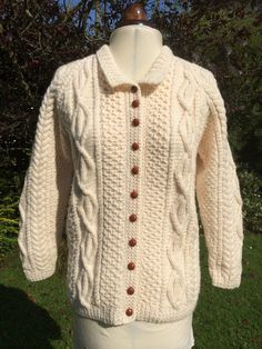 Vintage Hand Knitted Cardigan Jacket Sweater от InVogueToVintage