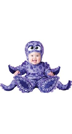 Purple Tiny Tentacles Octopus Baby Halloween Costume