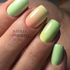 The Simple Pastel Summer Nail Colors. Summer is the name for colors and so this nail art design.
