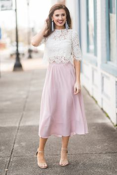 Beautiful Moments Midi Skirt, Pink - The Mint Julep Boutique