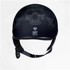 Cool Motorcycle Helmets, Motorcycle Vest, Cool Motorcycles, Riding Helmets, Half Helmets, Black Denim Vest, Helmet Brands, Black Bullet