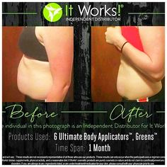 When you pair these 2️⃣ together, the results are incredible‼️ ✅ Feel better on the inside ✅ Look better on the outside Just half way through her 90 day challenge! I can't wait to see her final results in July!! Greens = 8 servings of fruits & veggies! Wraps = tighter, smoother, & more toned skin! And receive my 40% discount today‼️⌛️#allnatural #glutenfree #itworks