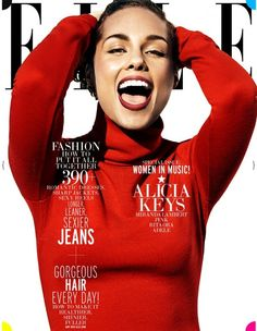 #CeleBeauty Watch: Alicia Keys, Cover May 2013 #Elle 'Women In Music' Issue via @tracey brown