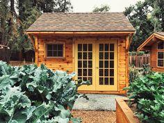 Small Wood Shed, Cedar Garden, Garden Sheds, Sebastopol California, Cedar Cabin, Glen Echo, Slider Window, Shed Kits, Cabin Kits