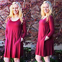Wine Me Swing Dress