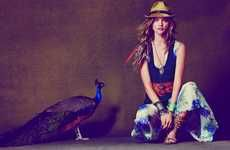 from trend hunter, a comfy bohemian style