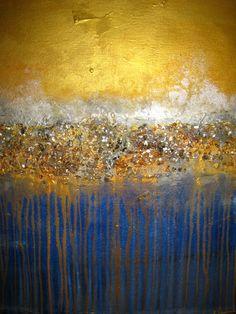 Abstract Painting 70 x 30 HUGE Original Abstract di artoftexture