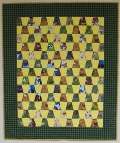 Farm Animal Tumbler Quilt - simple project for a child's quilt