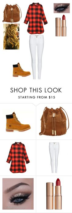 """""""going out"""" by rockstarkaytie ❤ liked on Polyvore featuring Timberland, Vince Camuto, Relaxfeel, Burberry and Charlotte Tilbury"""
