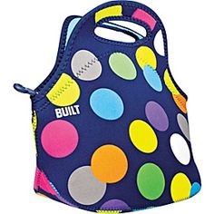 BUILT Gourmet Getaway Lunch Tote - Scatter Dot - perfect for boy girl, or adult (me!) :)