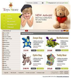 Toy Toys osCommerce Templates by Delta Kids Store, Toy Store, Entertainment Online, Online Shopping Stores, Website Template, Doll Toys, Entertaining, Templates, Stencils