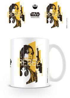 Taza Jyn Rebel, Rogue One: A Star Wars Story  Taza cerámica con la imagen de Jyn, basada en el film Rogue One: A Star Wars Story.