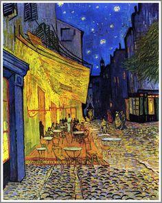 Vincent van Gogh  Terrasse du café le soir