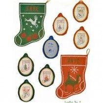 Christmas Stocking Ornaments Cross Stitch Patterns Faye-Raye