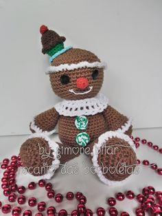 <3 Gingerbread Amigurumi by Recanto das Borboletas. Fofo,delicado e encantador. :) Vem saber mais sobre ele aqui: http://recantodasborboletas-simoninha.blogspot.com.br/