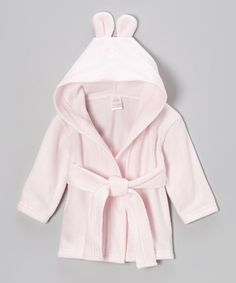 Look what I found on #zulily! Pink Bunny Fleece Hooded Robe - Infant #zulilyfinds