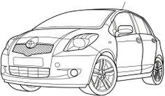 Toyota Yaris Coloring Page